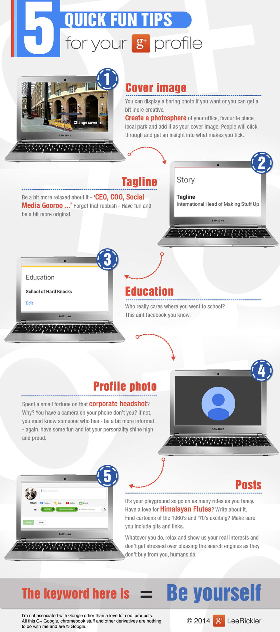 5 Quick fun Google+ tips