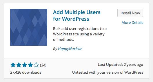 Add Multiple Users WordPress plugin