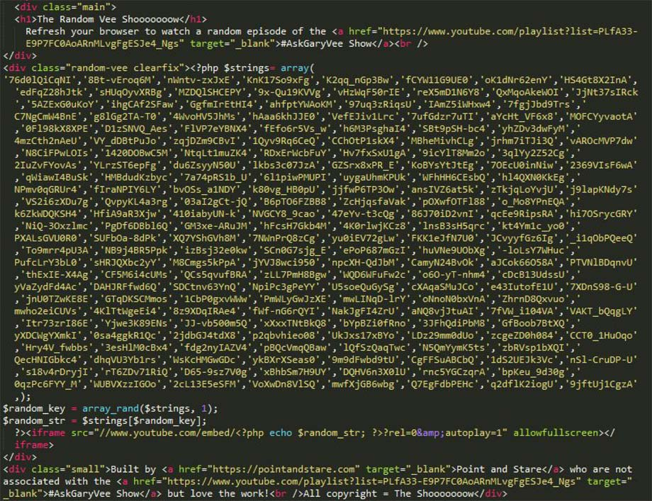 The Random Vee - Initial code