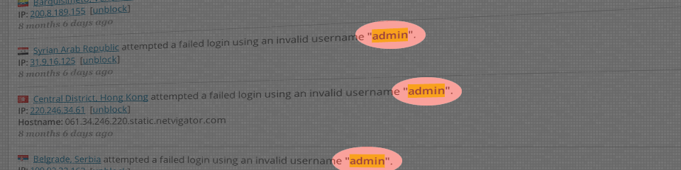 How to : Never use admin as your username