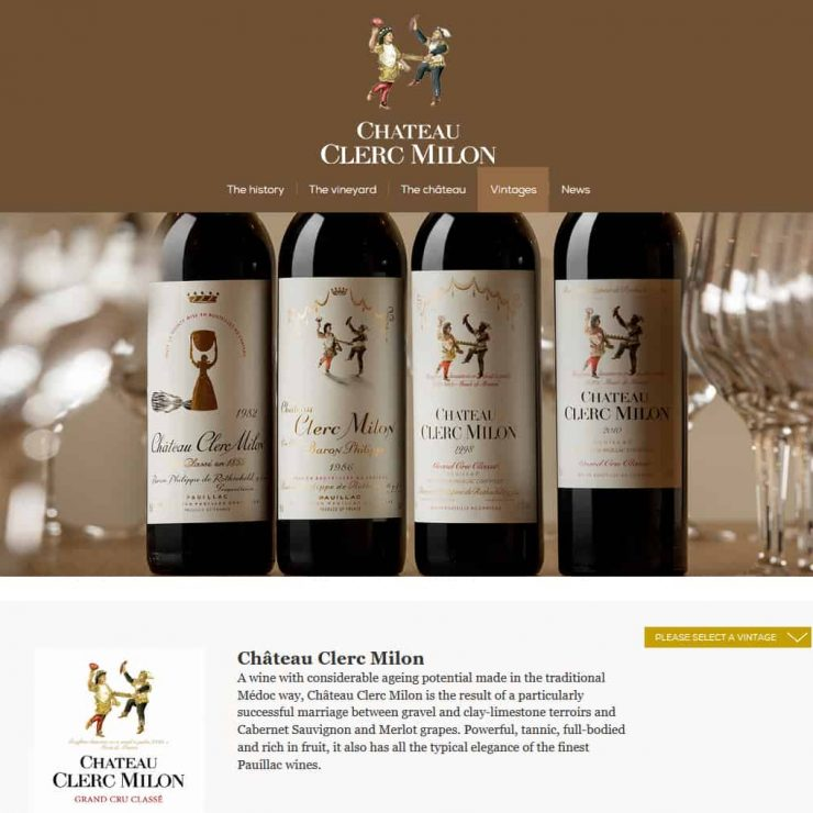 Château Clerc Milon - A Point and Stare client project