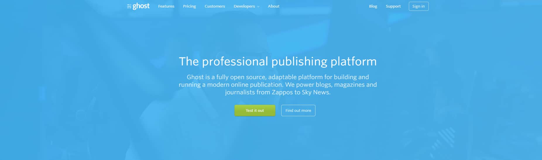Top Ethical Blogging and CMS Alternatives : Ghost CMS
