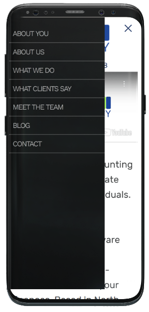 Simply Accountancy - Mobile menu open