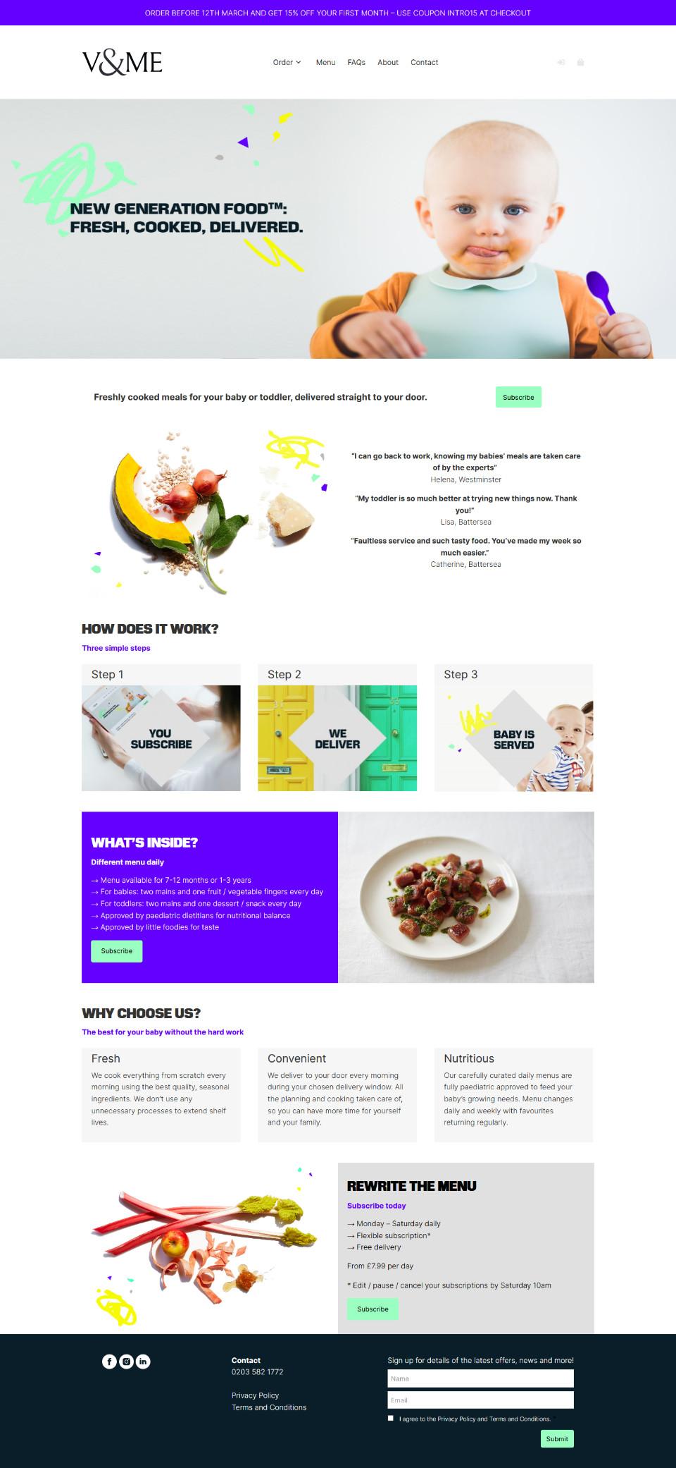 VandMe - WordPress and WooCommerce based online store